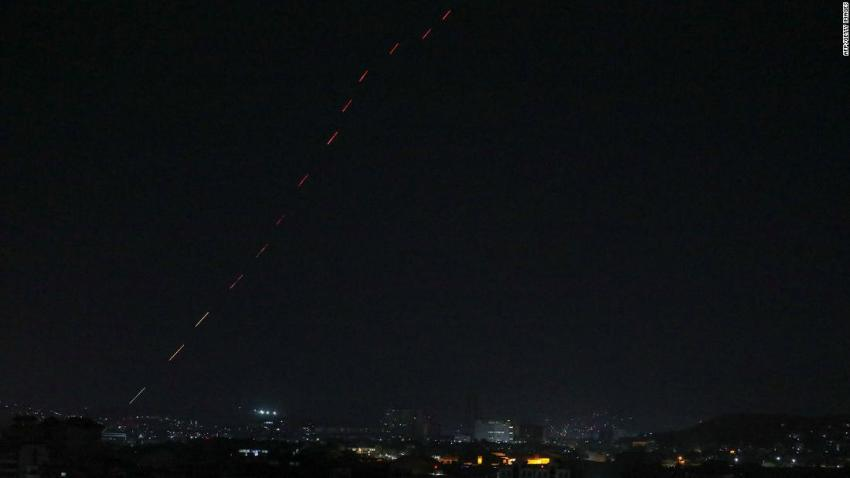 Celebratory gunfire lights up the sky after the last US aircraft left the Kabul airport.