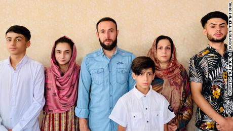 US nonprofit worker Zamarai Ahmadi, third from left, was applying for a visa to the US for himself, his wife Anisa, and their children Zamir, Zamira, Faisal and Farzad.