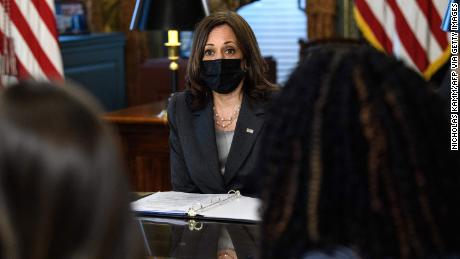 US Vice President Kamala Harris holds a roundtable discussion on reproductive rights at the Eisenhower Executive Office Building, in Washington, DC on September 9.