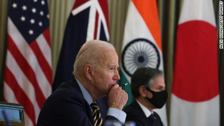 US President Joe Biden and US Secretary of State Antony Blinken will attend a virtual meeting with leaders of four-sided security dialogue countries on March 12 in the White House.