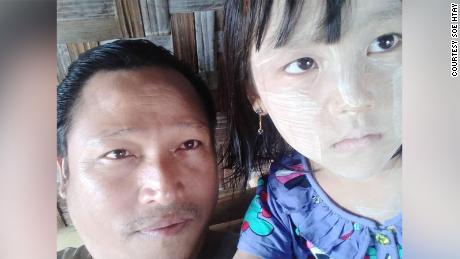 Soe Htay, left, and his daughter Su Htet Waing.
