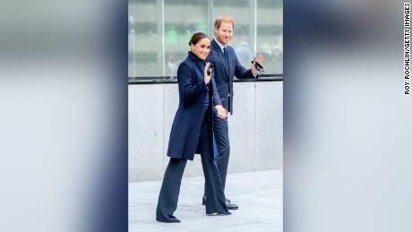 The Duke and Duchess of Sussex visit One World Observatory in New York City on September 23, 2021.
