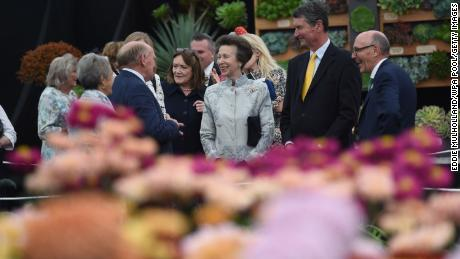 Princess Anne and husband Timothy Laurence during a visit to the autumn RHS Chelsea Flower Show