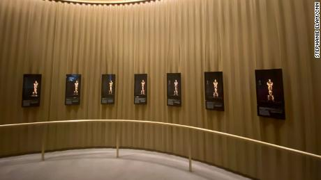 The museum has a display of Oscar statues and offers visitors a virtual opportunity to experience what it might feel like to walk across the stage at the Academy Awards.