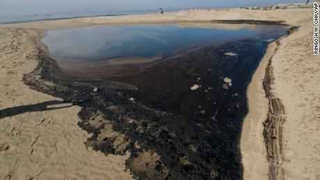 Stocks plunge in the small company responsible for California's massive oil spill