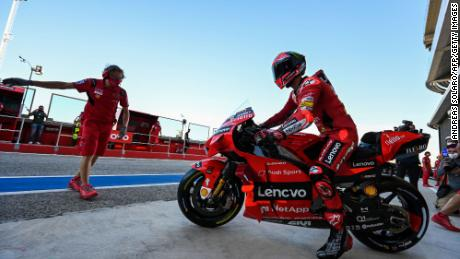 Bagania goes for the third free practice session before the San Marino MotoGP Grand Prix at the Misano World Circuit Marco-Simoncelli on September 18, 2021 in Misano Adriatico, Italy.