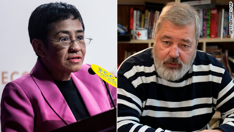 Live updates: Nobel Peace Prize awarded to Maria Ressa and Dmitry Muratov