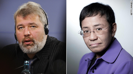 Muratov and Ressa have faced legal and physical threats since they established their news outlets.