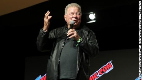 William Shatner speaks at the William Shatner Spotlight panel at New York Comic Con 2021 on Oct. 7, 2021 (Photo by Bennett Raglin/Getty Images for ReedPop)
