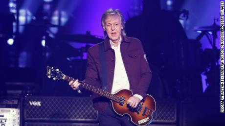 Paul McCartney during a concert for his Freshen Up tour at SAP Center in San Jose, California on Wednesday, July 10, 2019