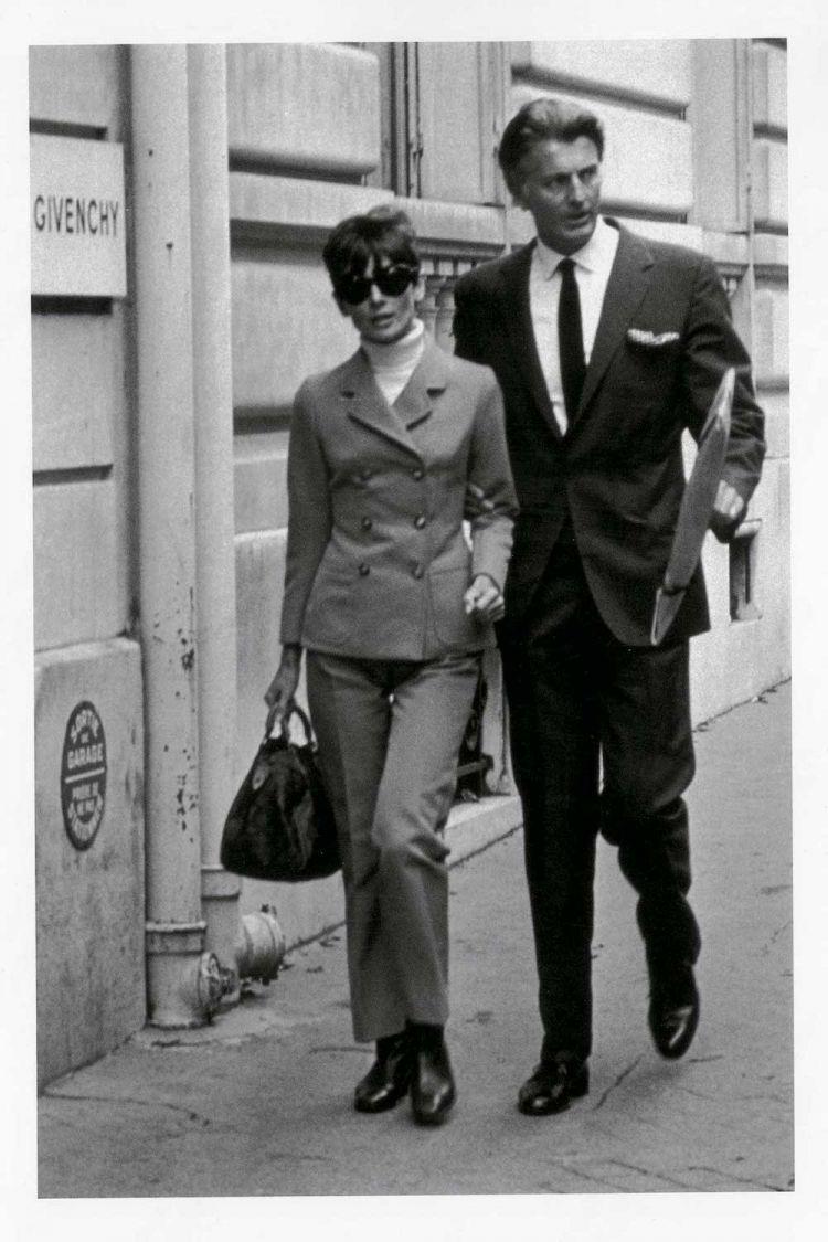 Hubert de Givenchy and Audrey Hepburn
