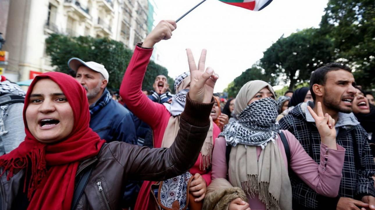 Image result for Τυνησία: Χιλιάδες πολίτες στους δρόμους κατά της απόφασης Τραμπ για την Ιερουσαλήμ