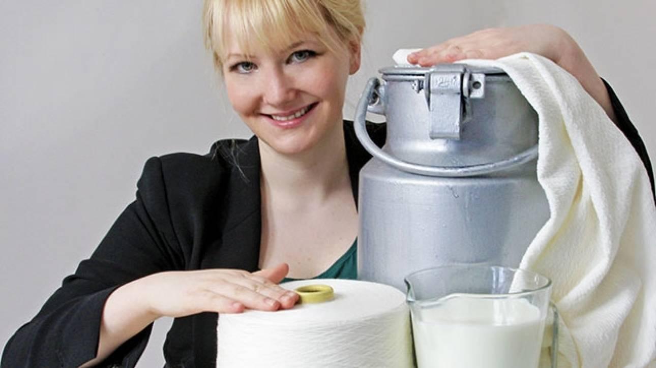 Η γυναίκα που φτιάχνει ρούχα από ληγμένο… γάλα!