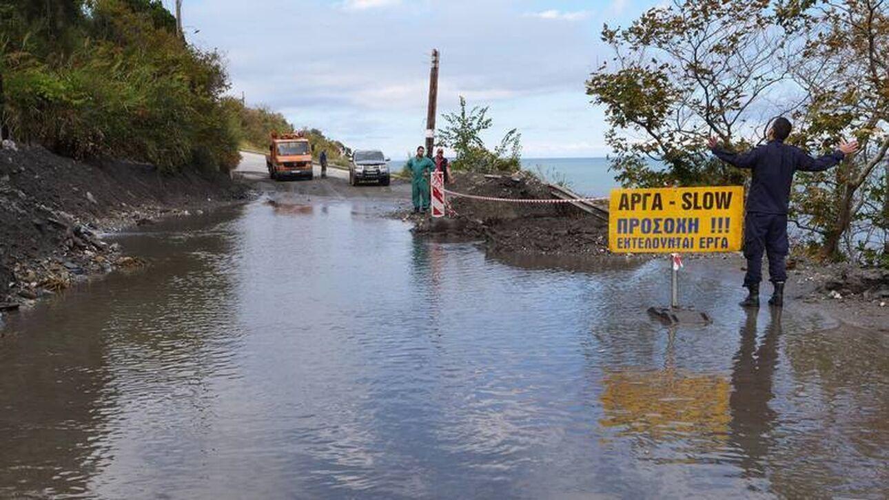 Πλημμύρες και μεγάλες καταστροφές στο Μεσολόγγι