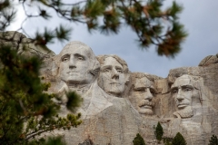 Mount Rushmore National Memorial as seen on April 23, 2020, in Keystone, South Dakota. (Photo by Kerem Yucel/AFP via Getty Images)