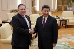 Secretary of State Mike Pompeo meets with Chinese President Xi Jinping in Beijing in 2018. (Photo by Andy Wong/AFP via Getty Images)