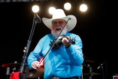 """Charlie Daniels performs on """"Fox & Friends"""" at FOX Studios on Jun. 16, 2017 in New York City. (Photo credit: Taylor Hill/WireImage)"""