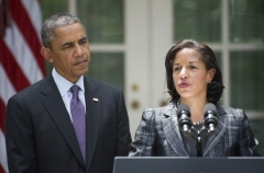 National Security Advisor Susan Rice and President Obama at the White House in 2013. (Photo by Jim Watson/AFP via Getty Images)