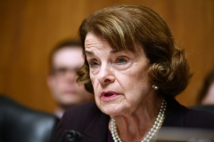 """U.S. Senator Dianne Feinstein speaks as U.S. Attorney General William Barr prepares to testify before the Senate Judiciary Committee on """"The Justice Department's Investigation of Russian Interference with the 2016 Presidential Election."""" (Photo credit: MANDEL NGAN/AFP via Getty Images)"""