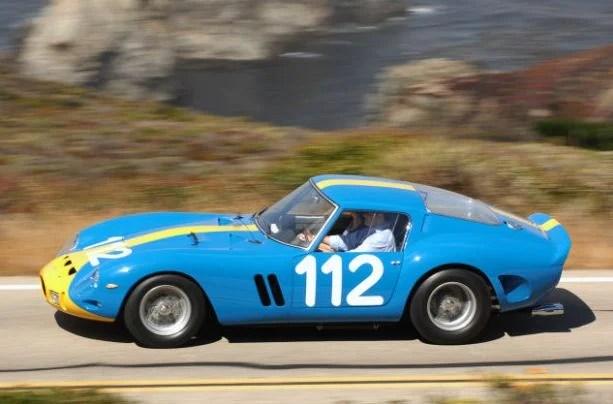 Light Blue 1962 Ferrari GTO Crash