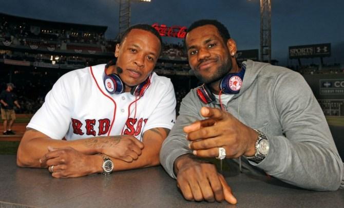 LeBron James wearing Beats by Dre