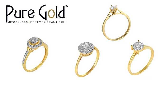 مجموعة خواتم ذهبية عيار 18 قيراط من بيور جولد