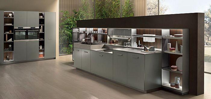 cocinas, Ernestomeda, Giuseppe Bavuso, mesa giratoria Cyclos, mesa SteadyTable, mobiliario de cocina, muebles de cocina, sistema Medley, Soul