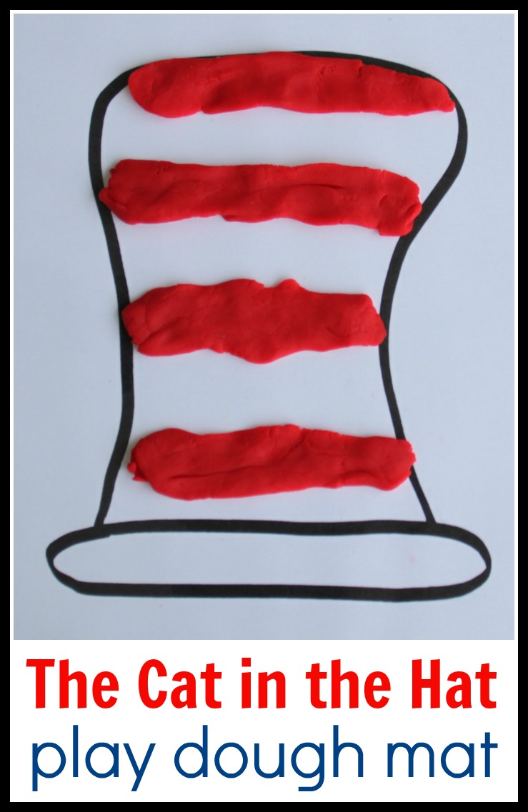 Cat In The Hat Math Play Dough Mat Coffee Cups And Crayons