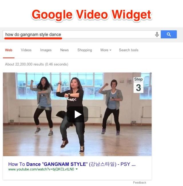 Google Video Widget Definition