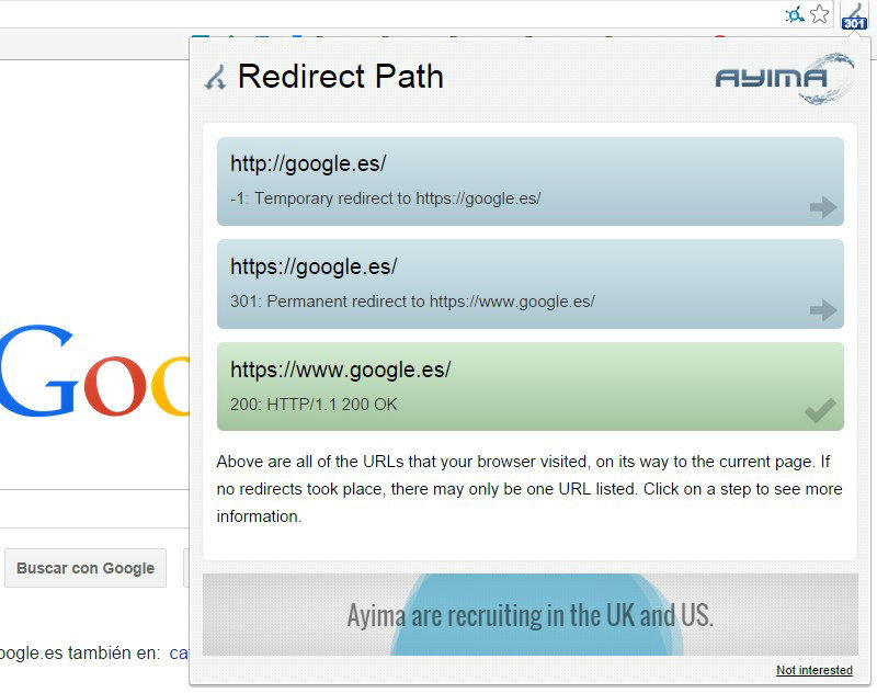 Redirect Path Extension