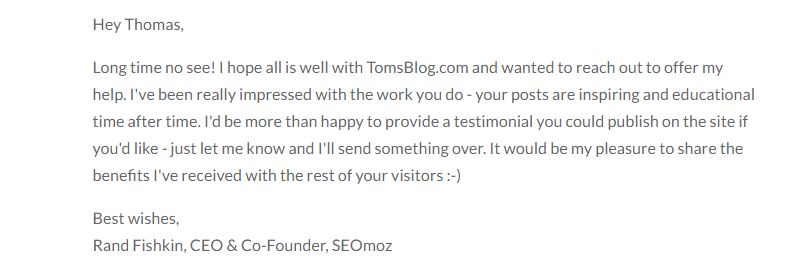 Write Testimonials for Popular Products in Your Niche for Authority Links & Exposure