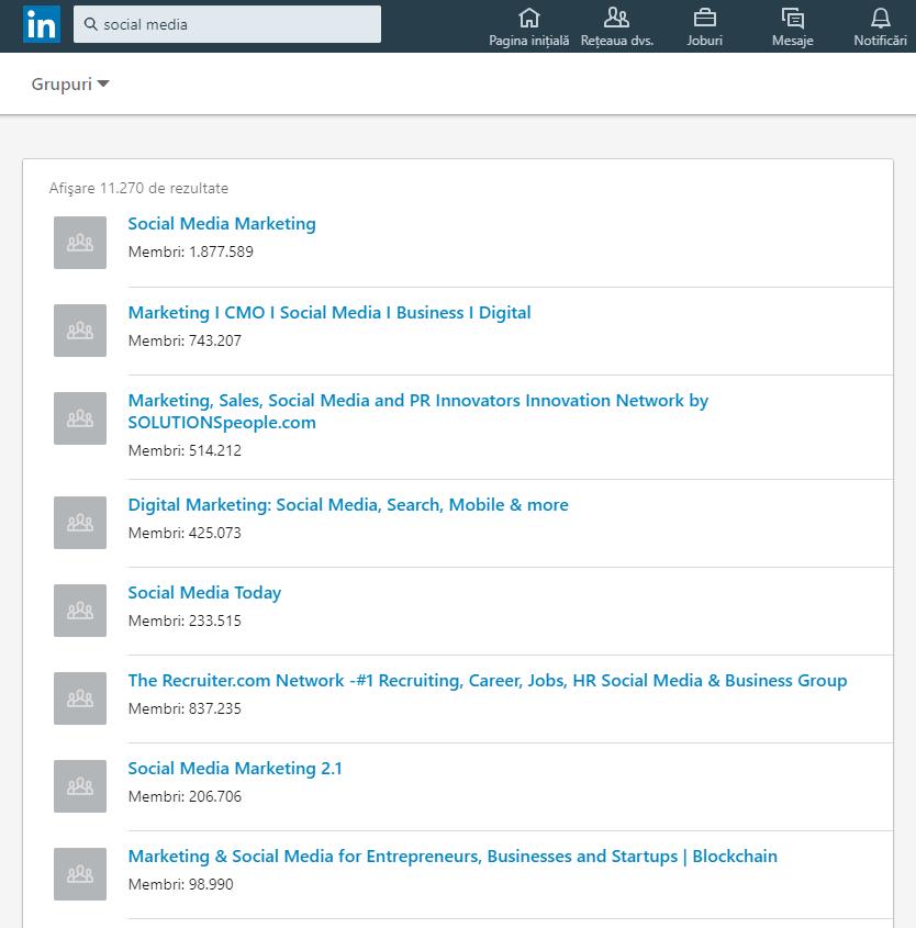 Social Media groups on LinkedIn