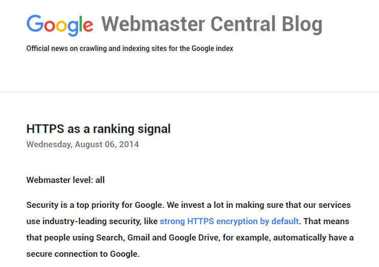 https as ranking signal important for seo