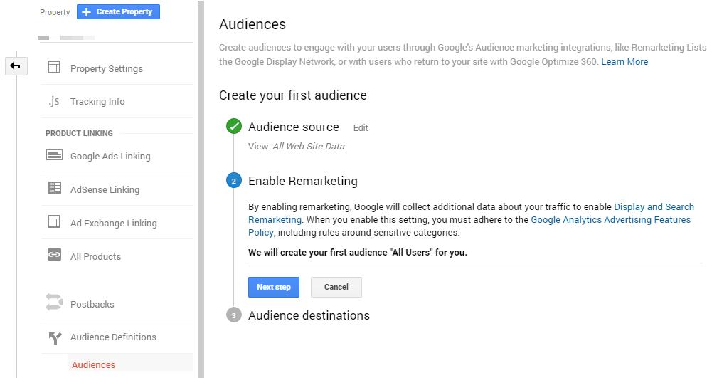 Creating Audiences in Google Analytics
