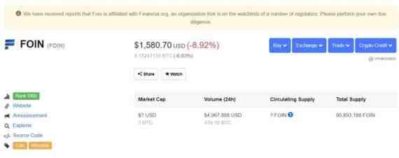 foin crypto scam