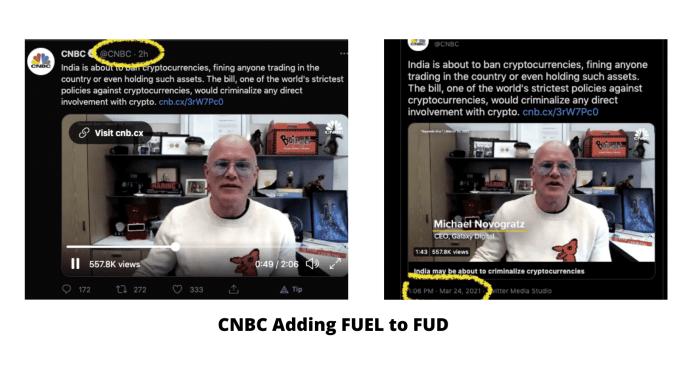 CNBC Crypto FUD