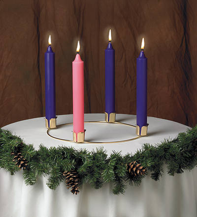Advent Wreath And Candle Set Cokesbury