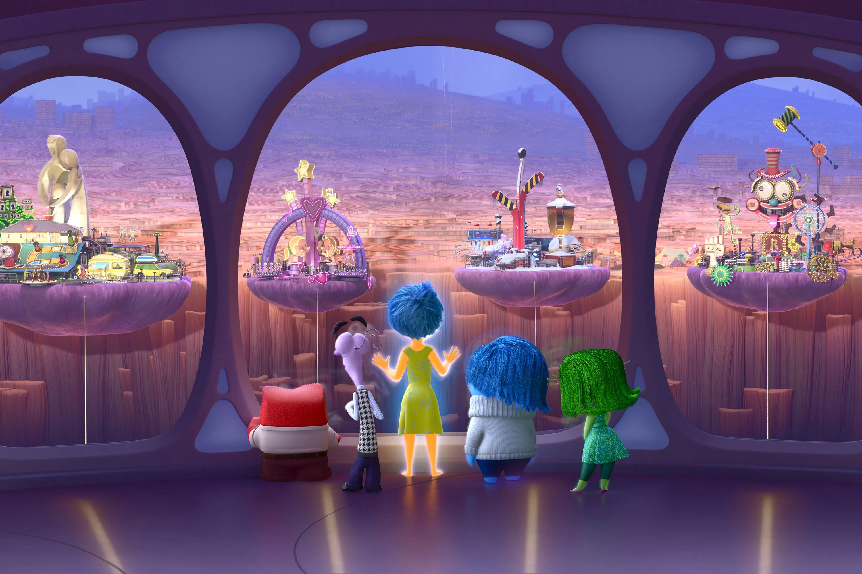 Inside Out Images Reveal How Pixar Brought Emotions To