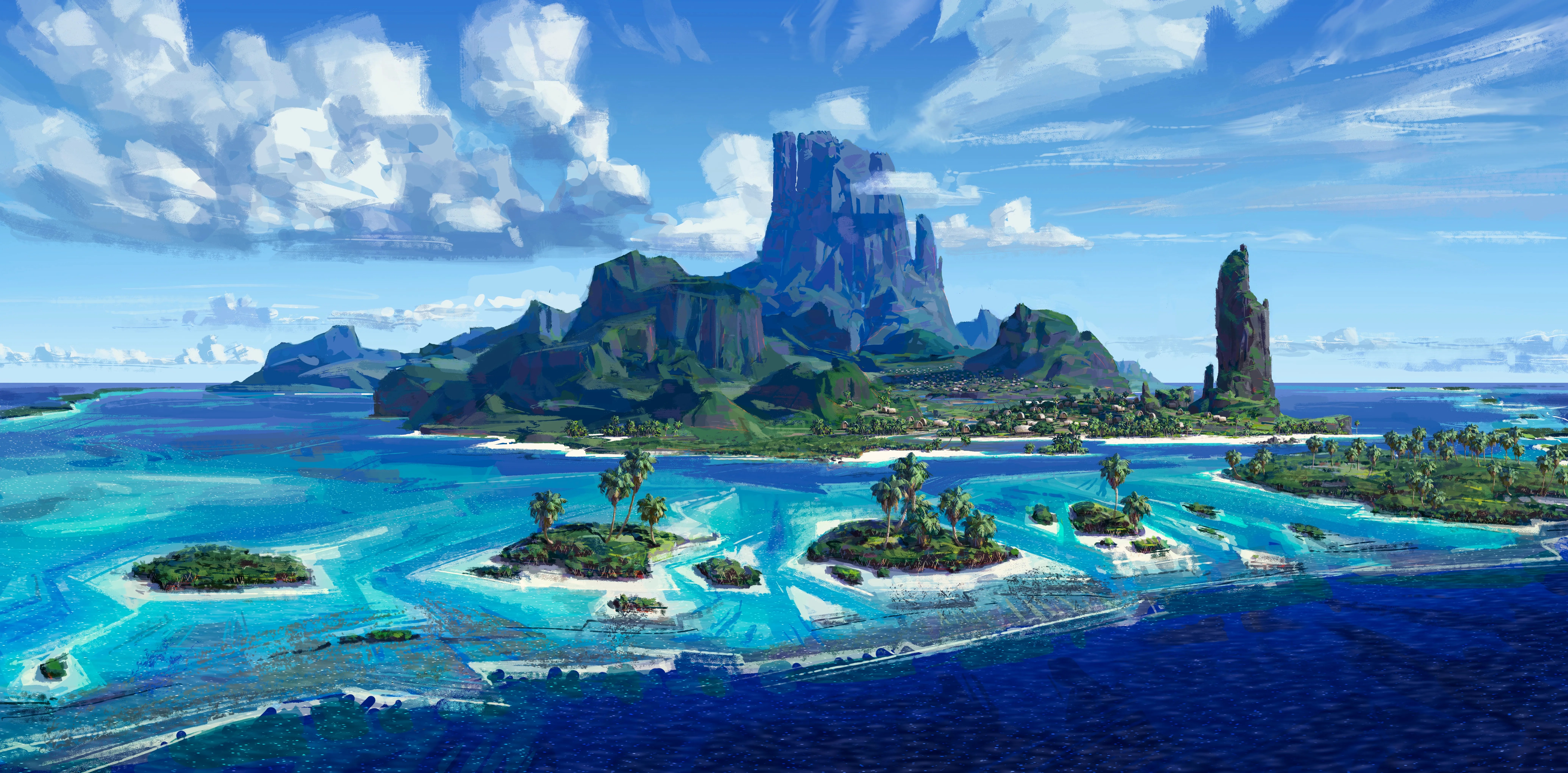 Concept Art And Behind The Scenes Look At Disneys Moana