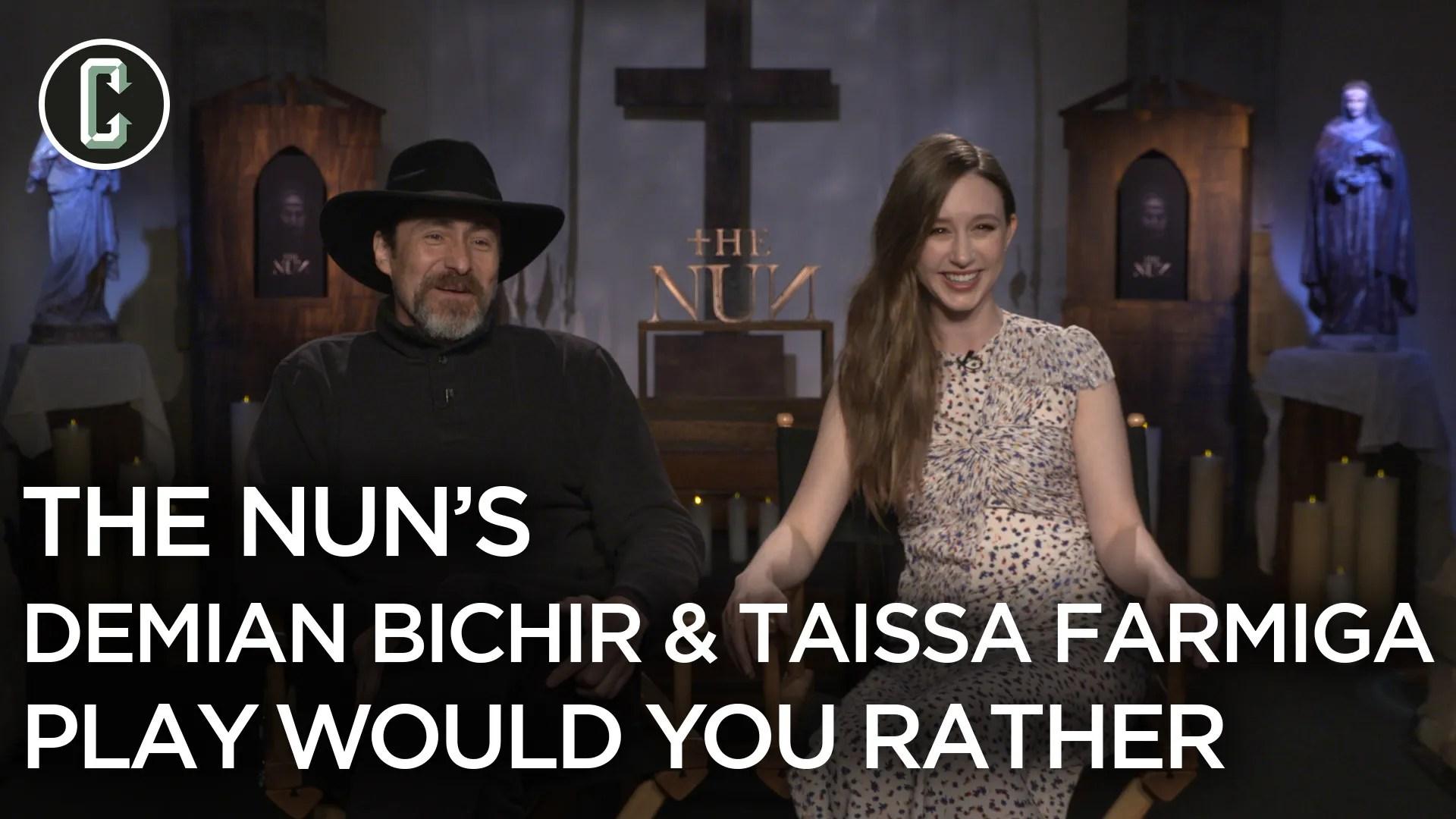 The Nuns Demian Bichir Amp Taissa Farmiga Play Would You