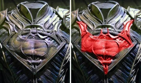 batman uomo logo di costume in acciaio