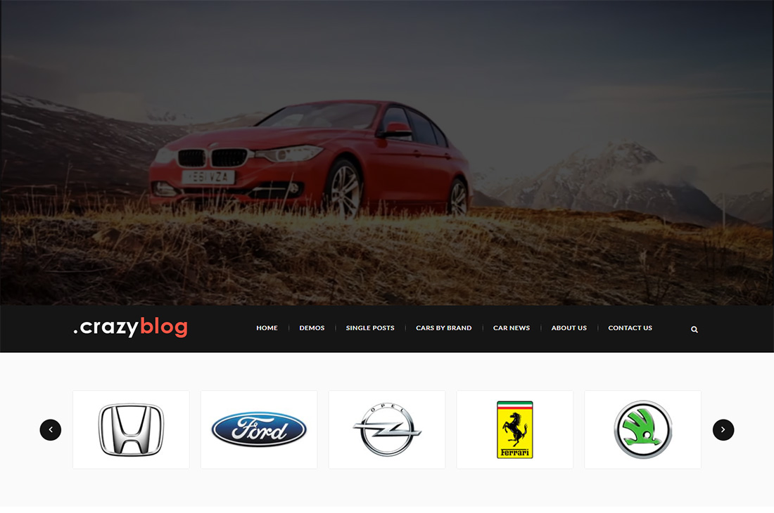 revista de coches crazyblog temas de wordpress