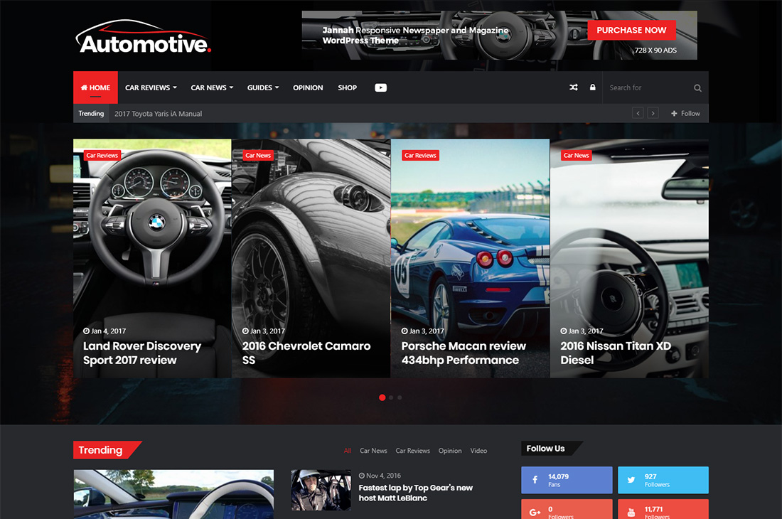 Jannah nuevos coches revista wordpress temas