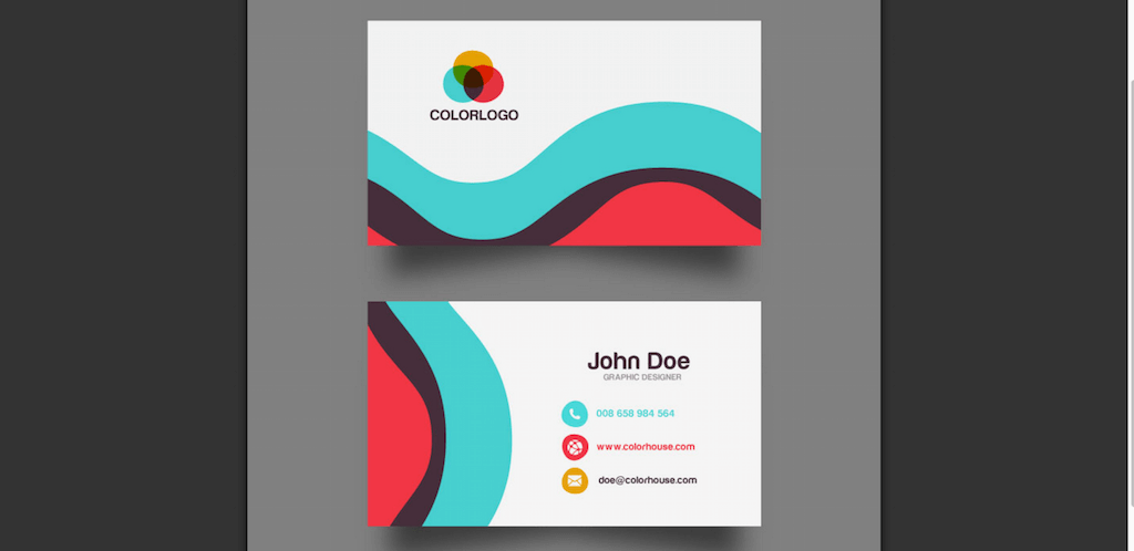Top 22 Free Business Card PSD Mockup Templates in 2018   Colorlib Flat Business Card Template