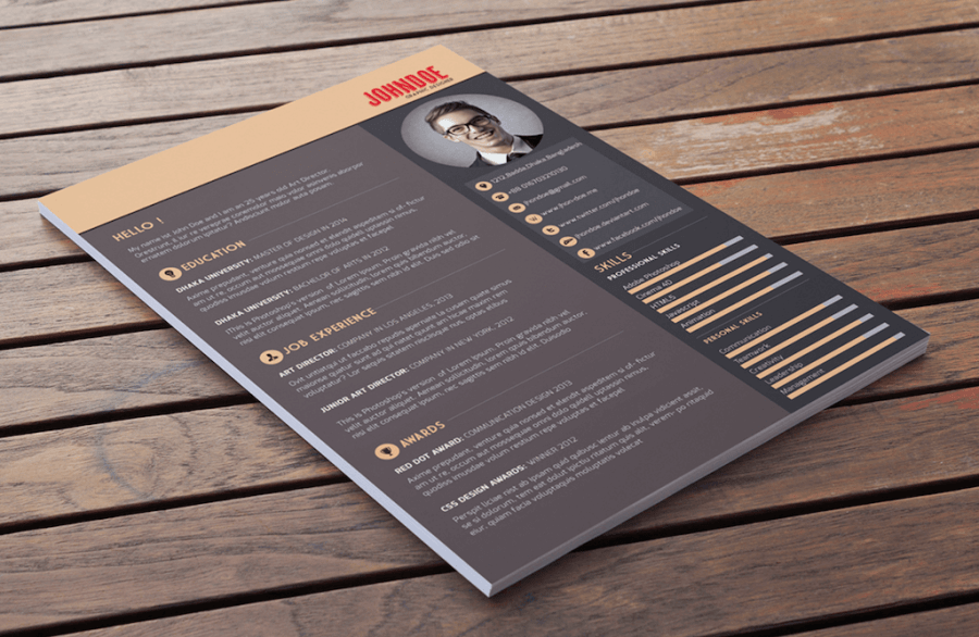 Best Free Resume Templates in PSD and AI in 2018   Colorlib Multi Color Resume Template by Abdullah Al Mamun