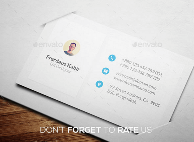 Top 22 Free Business Card PSD Mockup Templates in 2018   Colorlib Personal Business Card