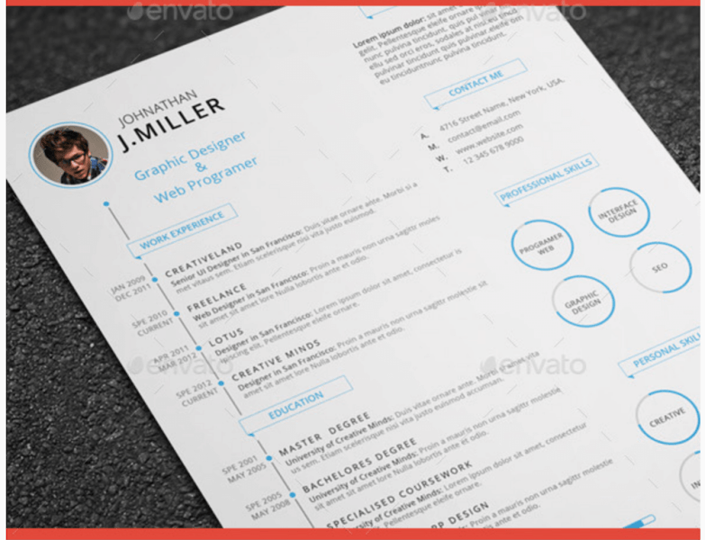 Best Free Resume Templates in PSD and AI in 2018   Colorlib XX Clean Resume GraphicRiver