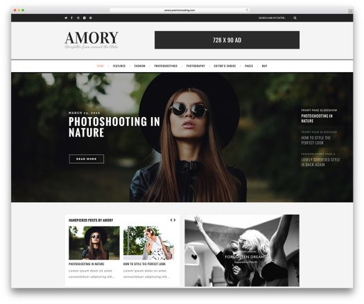amory-simple-magazine-blog-wordpress-theme