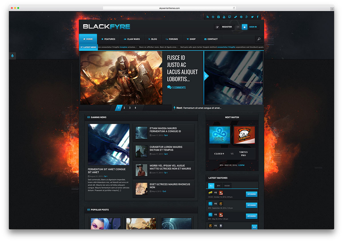blackfyre-dark-gamer-wordpress-theme