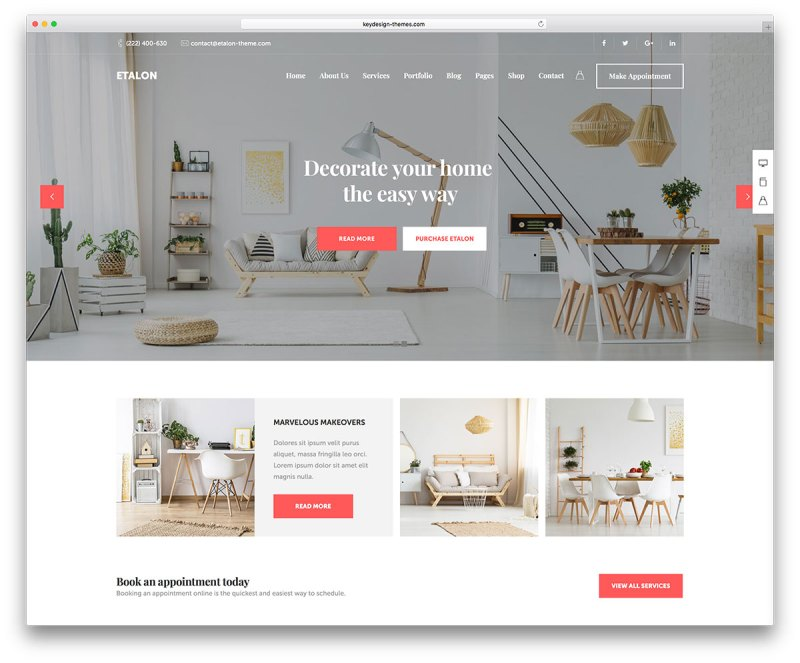 Furniture And Interior Design Websites ~ Interior design wordpress themes billingsblessingbags